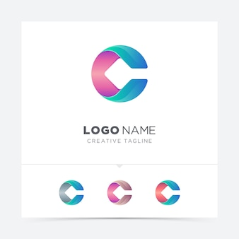 Colorful letter  logo variation