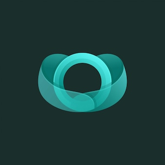 Colorful letter o  premium