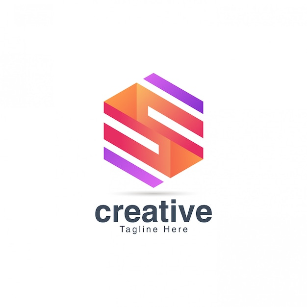 Colorful letter s logo design vector template