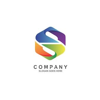 다채로운 문자 s 로고 디자인