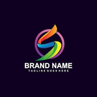 カラフルな文字のロゴデザイン