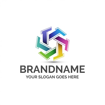 Colorful letter t logo template