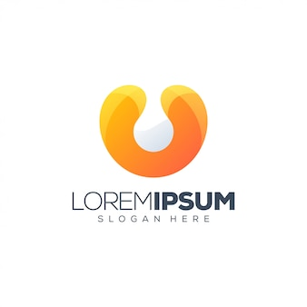 Colorful letter u logo