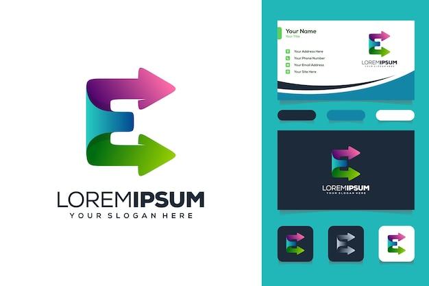 다채로운 편지 w 로고 디자인