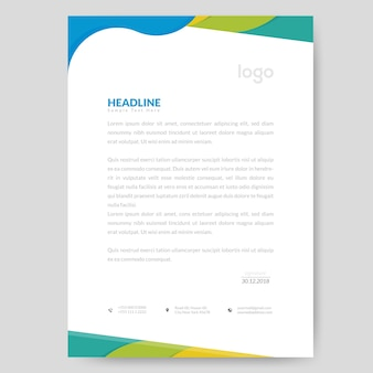 Colorful letterhead design
