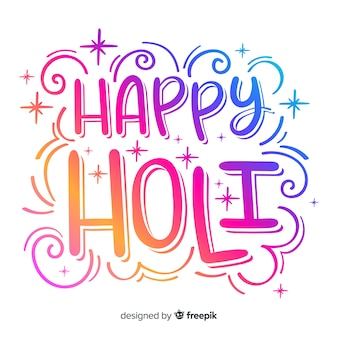 Colorful lettering holi background