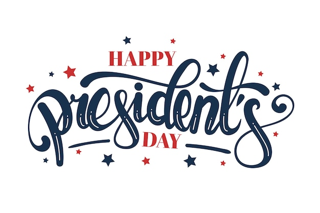 Colorful lettering president's day Free Vector