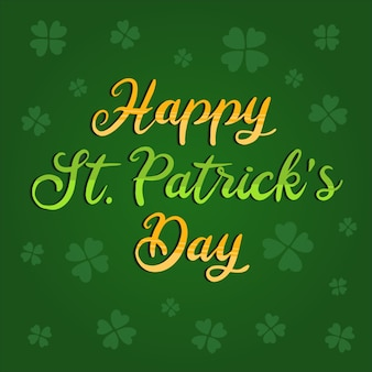Colorful lettering saint patrick's day