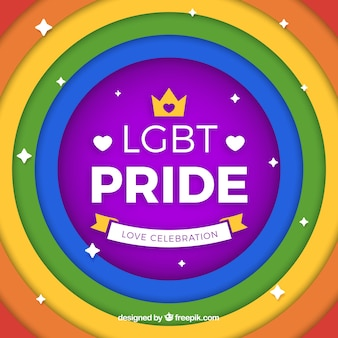 Colorful lgbt pride background