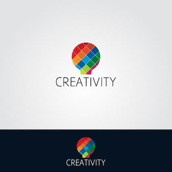 Colorful light bulb logo