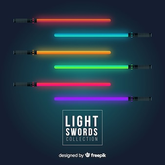 Colorful light sword collection