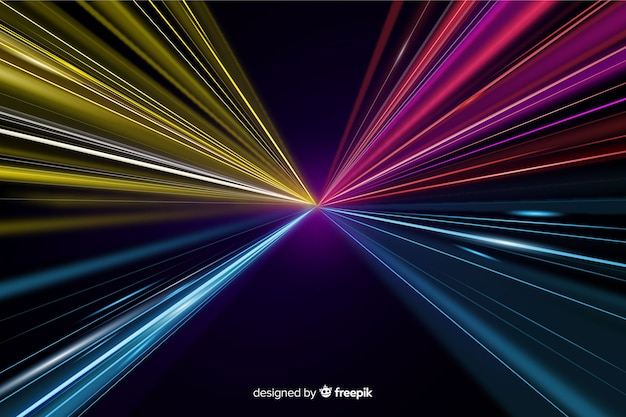 Colorful light trail background