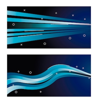 Colorful light trail in blues illustration design
