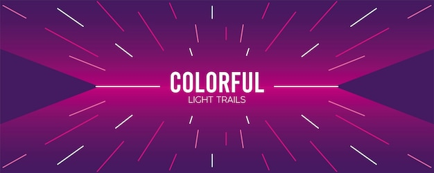 Colorful light trail in purple illustration design