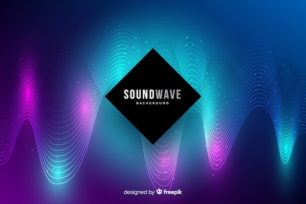 Colorful light waves background