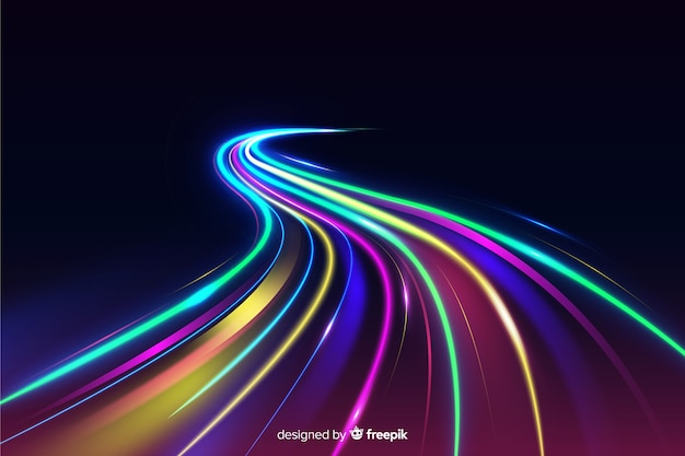 Colorful lights trail background