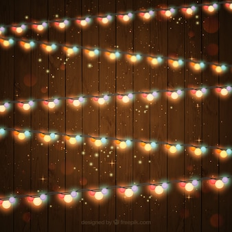 나무 배경으로 화려한 불빛