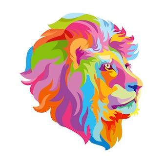 カラフルなライオンヘッド