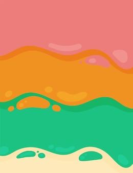 Красочный жидкий фон шаблон