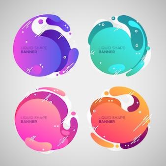 Striscioni liquidi colorati