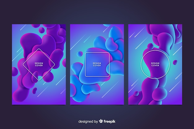 Colorful liquid effect cover collection