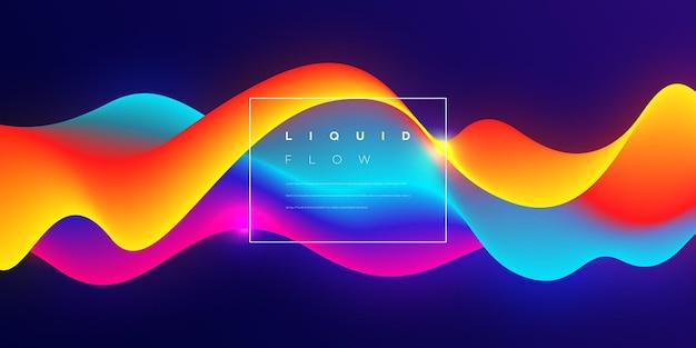 Красочный жидкий поток векторный фон