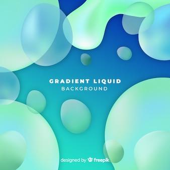 カラフルな液体図形の背景
