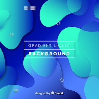 Colorful liquid shapes background