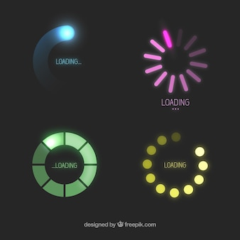 Colorful loading icons