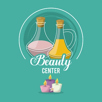 Colorful logo of beauty center