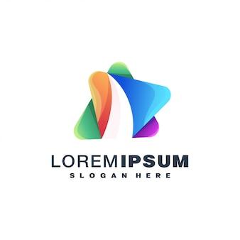 Colorful logo concept
