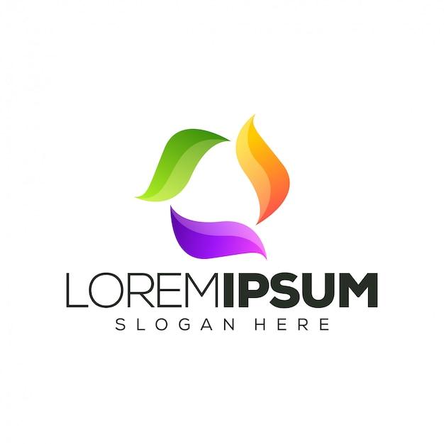 Colorful logo design  illustration
