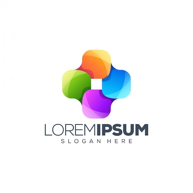 Colorful logo design vector illustration