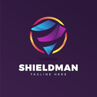 Colorful logo template with tagline