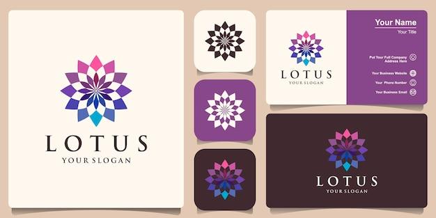 Красочный дизайн логотипа цветок лотоса