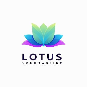 Colorful lotus logo