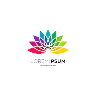 Colorful lotus logo