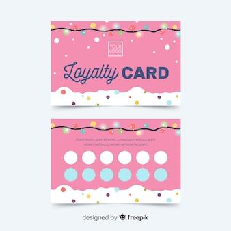 추상적 인 디자인으로 다채로운 충성도 카드 템플릿