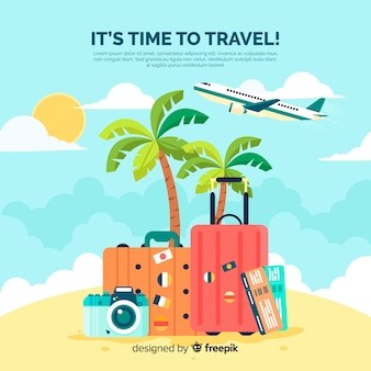 colorful luggage background