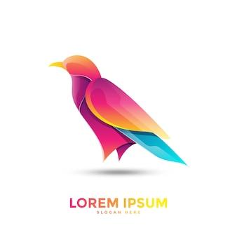 Шаблон логотипа красочная сорока
