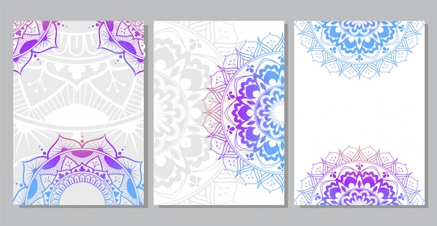 Colorful mandala background for book cover, wedding invitation, flyer, postcard, banner, or your presentation