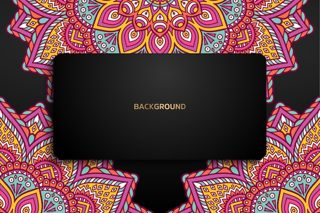 Colorful mandala background template