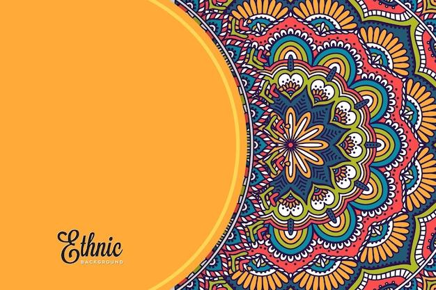Colorful mandala background template