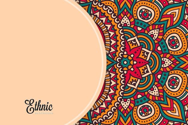 Modello di sfondo colorato mandala Vettore gratuito