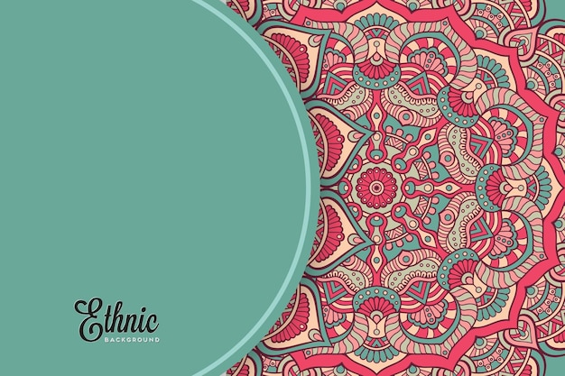 Colorful mandala background template Free Vector