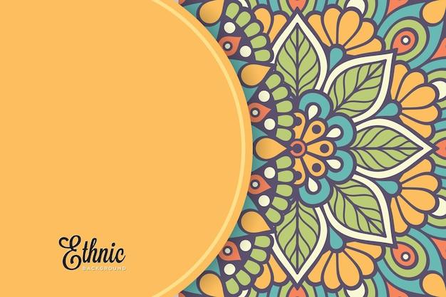 Modello di sfondo colorato mandala