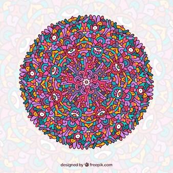 Colorful mandala background