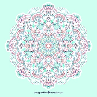 Colorful mandala background