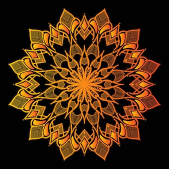 Colorful mandala on dark background