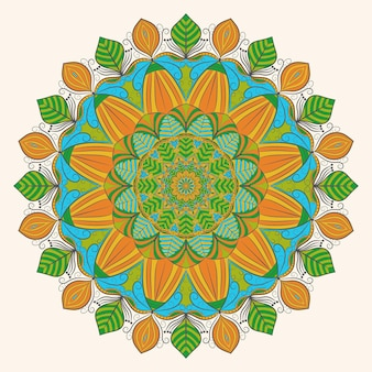 Colorful mandala decoration art
